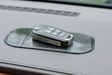 Alfombrilla soporte de silicona negra antideslizante adhesivo para salpicadero portaobjetos para móvil smartphone MP3