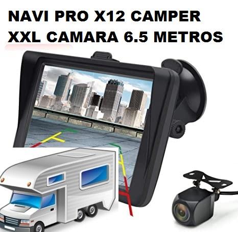 NUEVO TAMAÑO 9 PULGADAS NAVI  PRO X-12 CAMPER XXL  ED BLUETHOOT Y CAMARA TRASERA DE 6.5 METROS DE LARGO