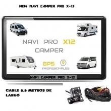 NUEVO NAVI  PRO X-12 CAMPER ED BLUETHOOT Y CAMARA TRASERA DE 6.5 METROS DE LARGO