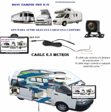CAMARA TRASERA CON 6,5 METROS DE CABLE